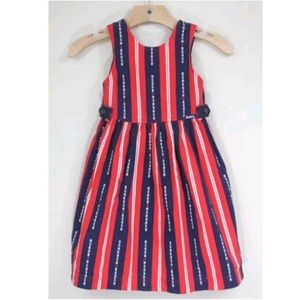 OshKosh Girls Vintage Dress 4th July red blue